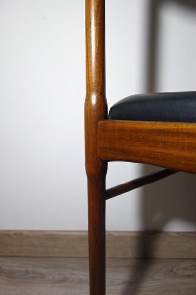 Série de 4 chaises Italiennes des années