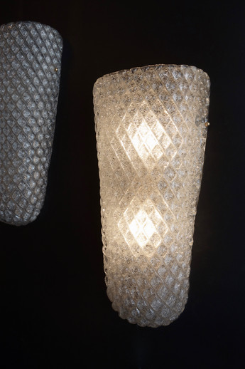 Paire d'appliques verre de Murano Contem