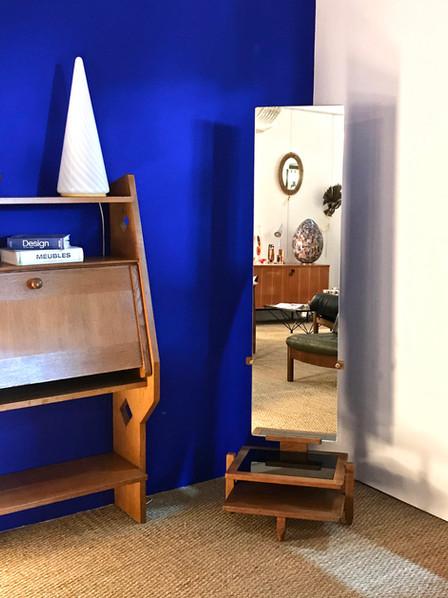 Psyché Miroir sur pied de Guillerme et Chambron pour Votre Maison, France 1960's
