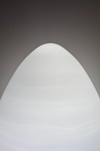 Lampe Oeuf contemporain satiné en verre blanc de Murano