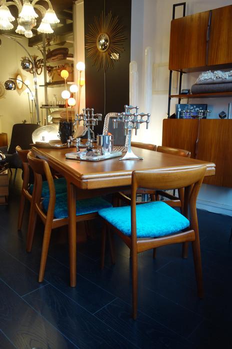 Table à manger et chaises Danoises