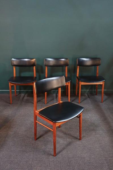 Série de 4 chaises scandinave de S.Chrobat pour Sax Chairs, 1964