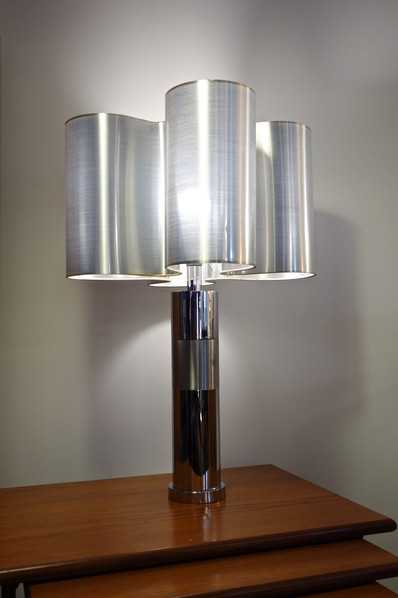 Grande lampe Trèfle en métal des année 70's