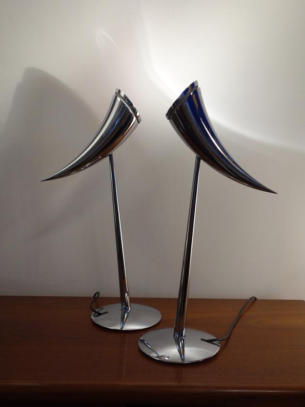 Paire de lampes Ara par Philippe Starck pour Flos
