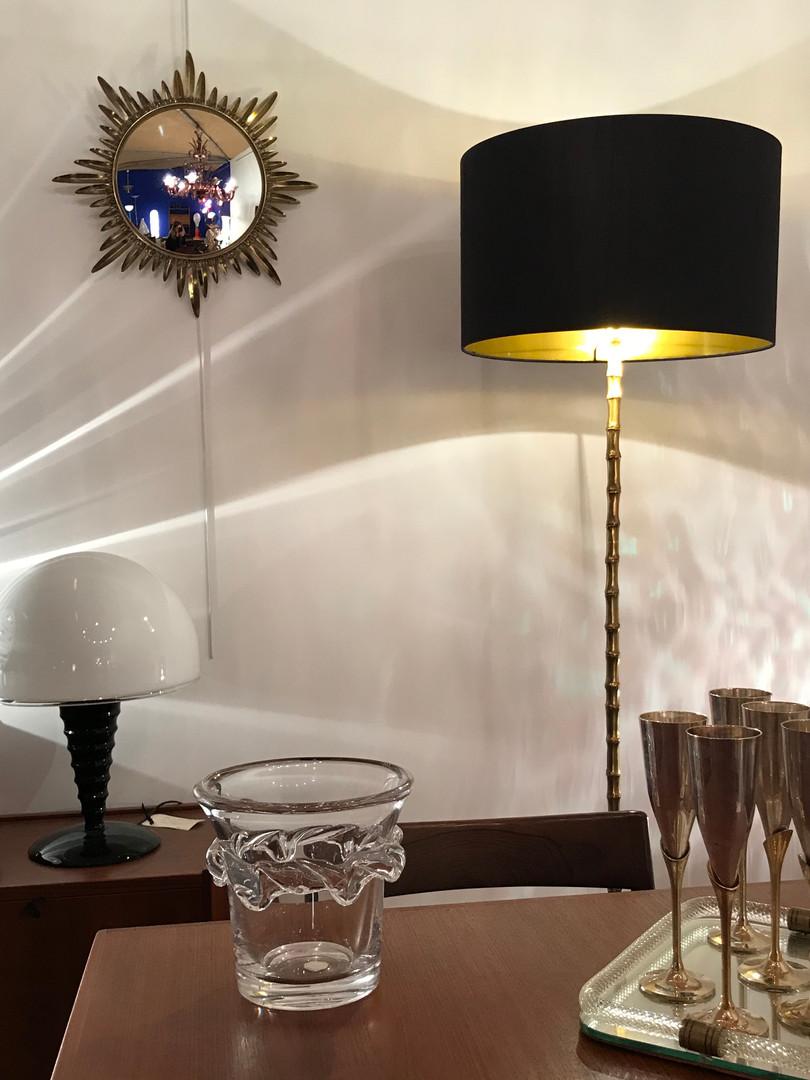 Lampadaire maison Baguès en bronze doré