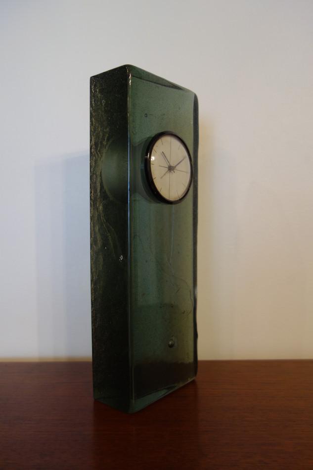 Pendule en verre Saint Gobain années 60