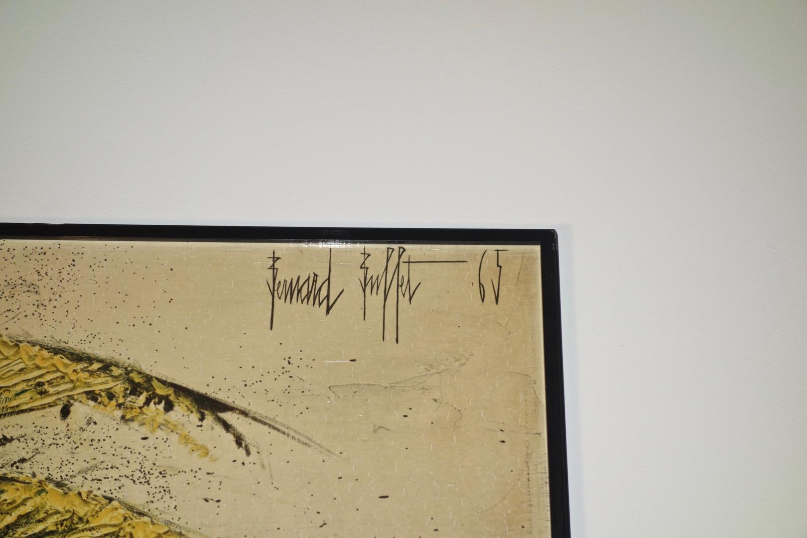 Héliogravure Ombelles et Delphiniums par Bernard Buffet pour Les Editions Braun de 1965