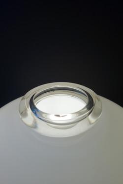 Lampe champignon opaline Murano année 60