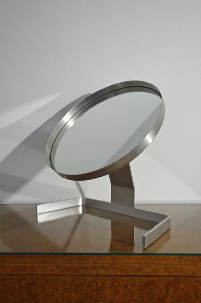 Miroir de table orientable par Guy Lefevre des années 1970's
