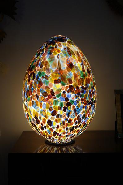 Oeuf multicolore en verre de Murano