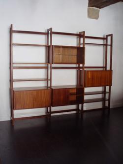 Bibliothèque modulable portugaise en teck de Jose Espinho vintage années 60