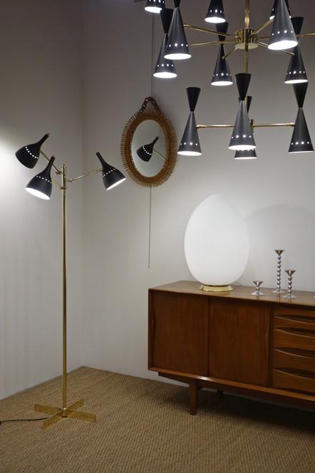 Lustre contemporain 20 lumières style 50's