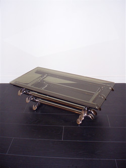 Table basse chromé attribué à Willy Rizzo année 70