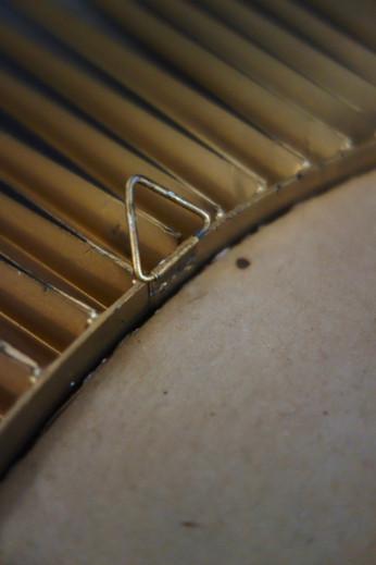 Miroir soleil chaty Vallauris en métal d