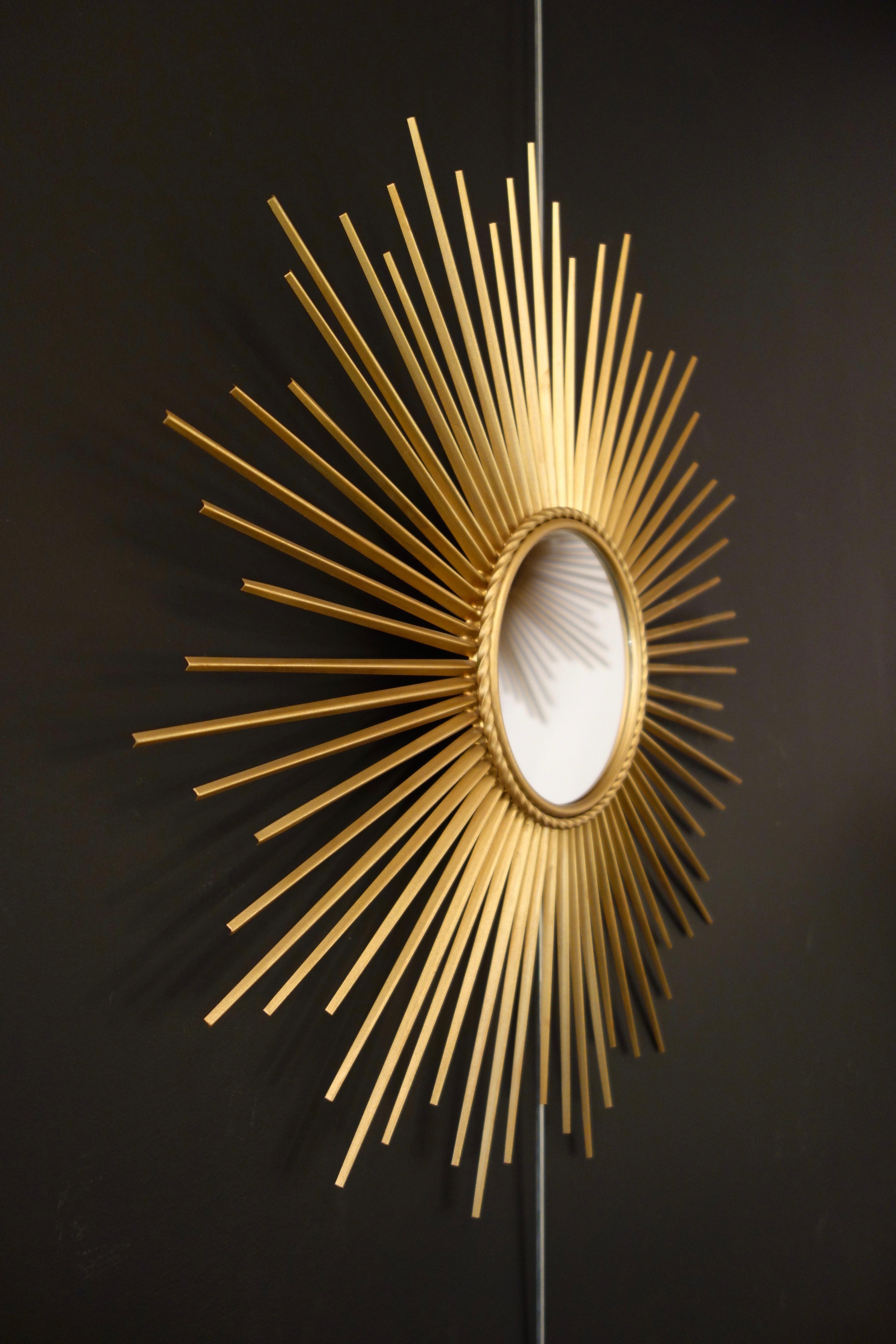 Miroir soleil vintage CHATY VALLAURIS année 50 60