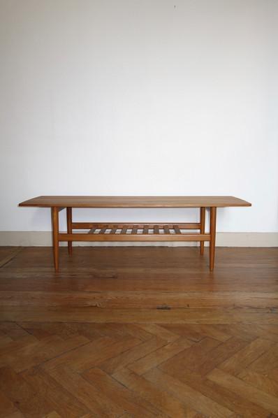 Table basse scandinave en teck Samcom