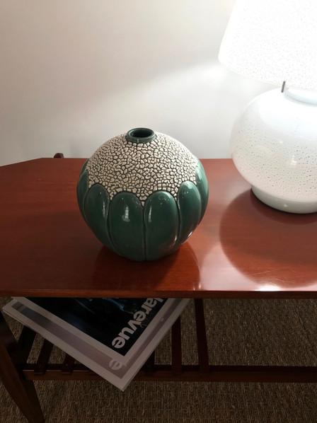 Vase Saint Clement & lampe Cenedese