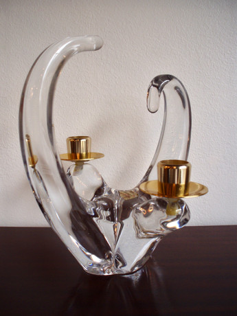 Bougeoir en cristal Schneider France ann