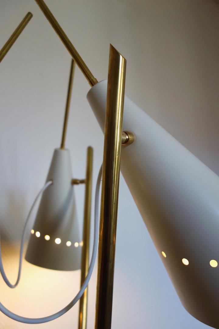 Lampadaire Italien en laiton 3 lumières