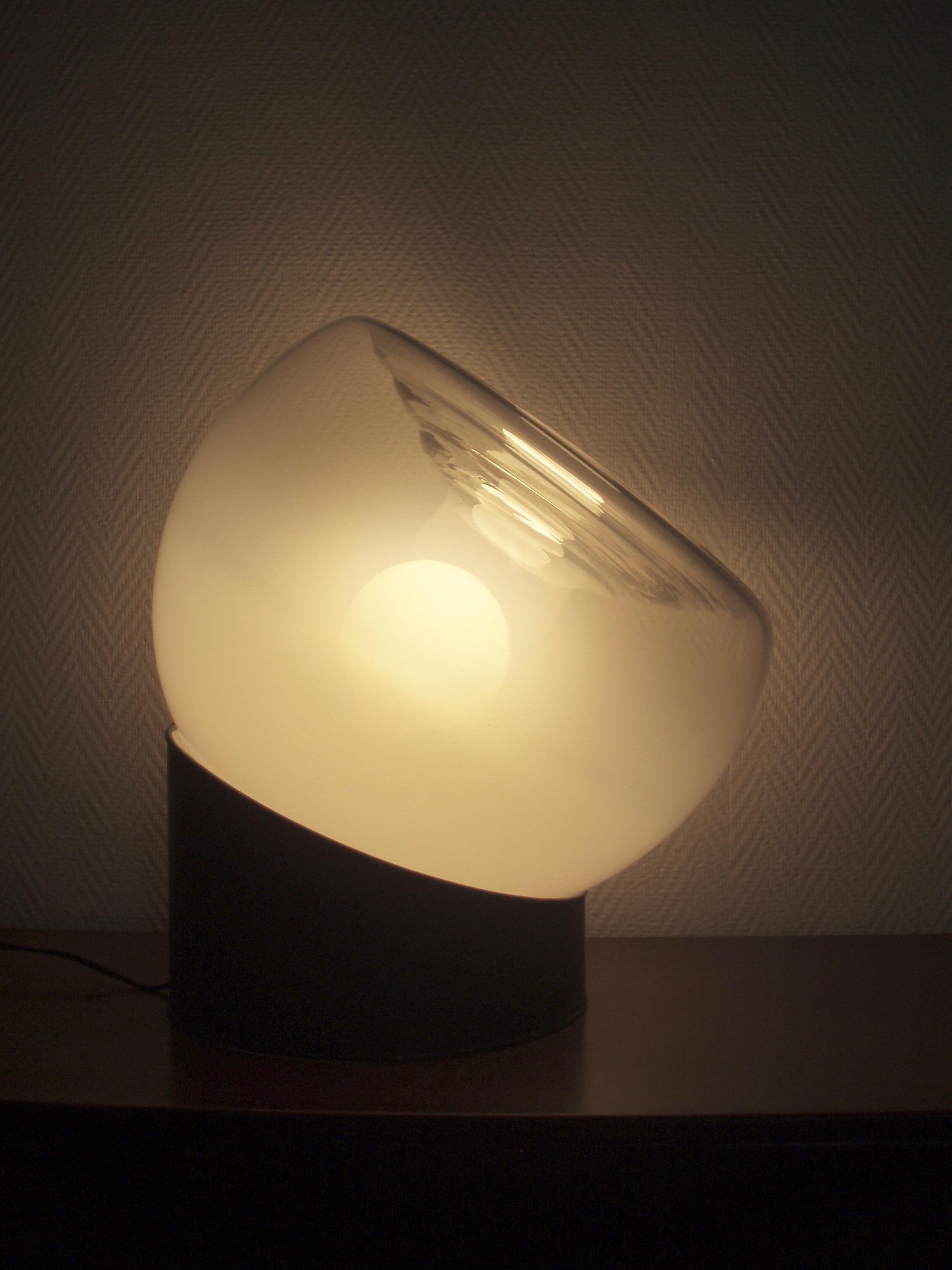 Lampe Italienne verre soufflé Murano année 60