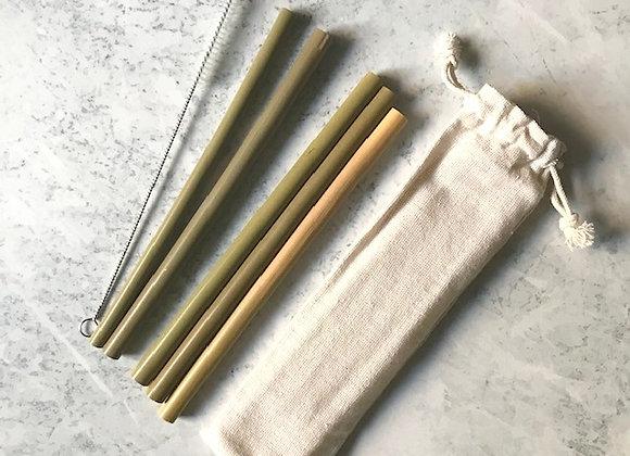 Set Bombillas de Bambú