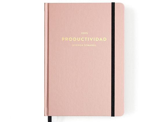 Agenda Productividad Rosa