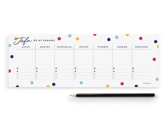Planificador Semanal Confetti