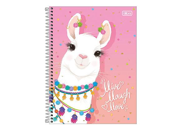 Cuaderno Class Llama Rosa Tilibra