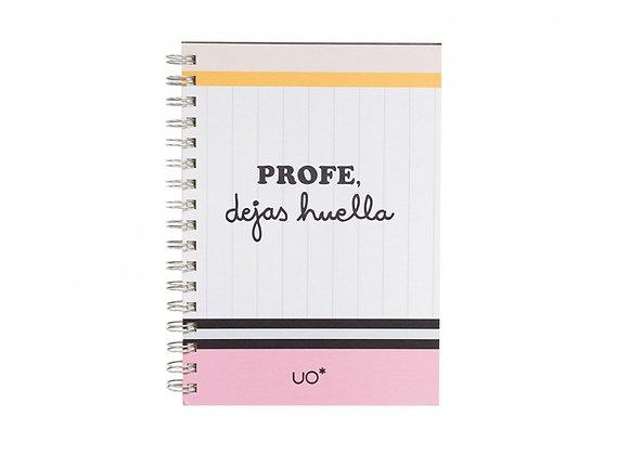 """Cuaderno """"Profe dejas huellas"""""""