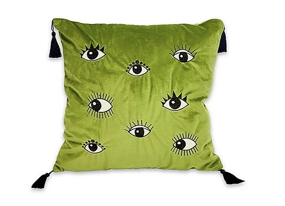 Cojín Verde Ojos