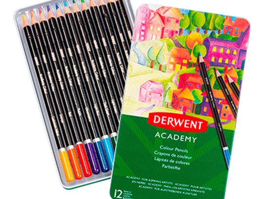 Caja lapices 12 colores - Derwent