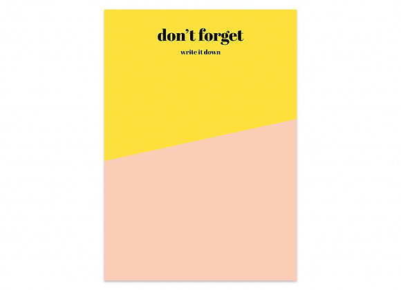 Notas Don´t Forget