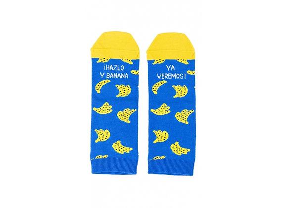 """Calcetines Tobilleros """"¡Hazlo y banana ya veremos!"""" UO"""