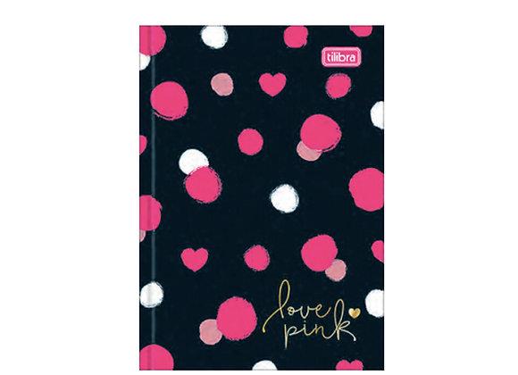 Cuaderno Empastado Love Pink Negro