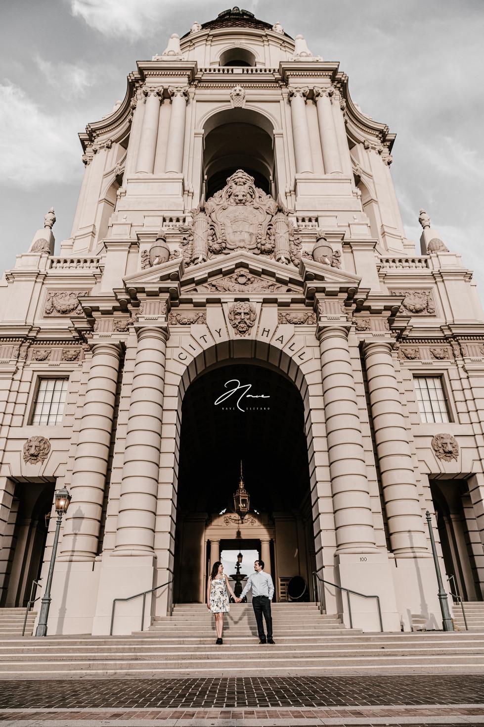 Wedding Photography Nave Photography Engagement Session at Pasadena City Hall Pasadena California
