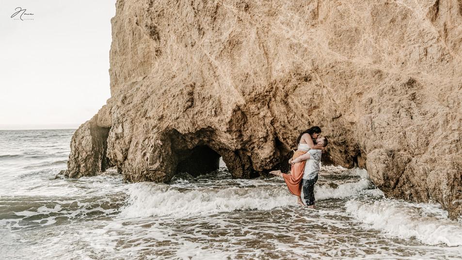 Wedding Photography Nave Photography Engagement Session at El Matador Beach in Malibu California