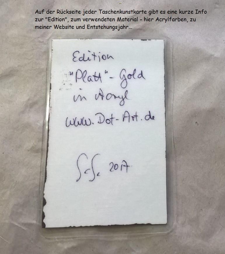 "Taschenkunst Edition ""Platt""-Gold"