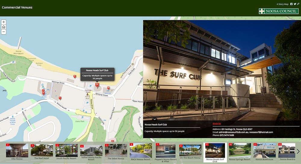 Looking for a venue for training, a conference or a group meeting?  Take a look at the  interactive map with photos and locations of commercial venues.