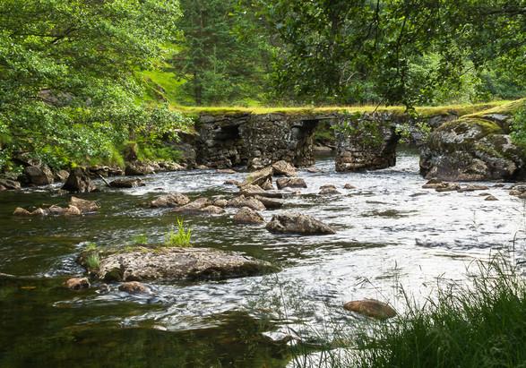 Old bridge over Litlå river