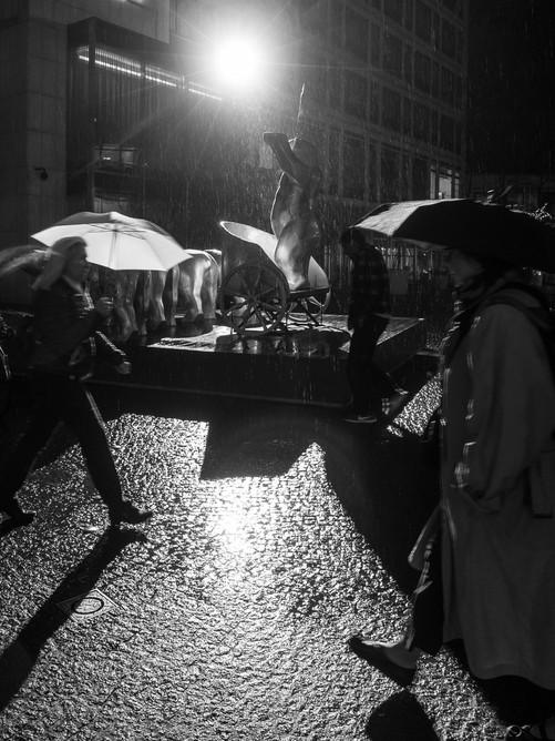 Berlin in the rain