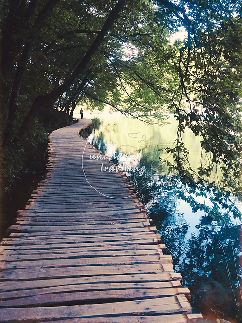 Boardwalk in Plitvice National Park - Croatia