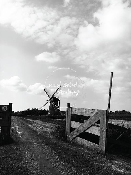 Windmill at Kinderdijk - Holland