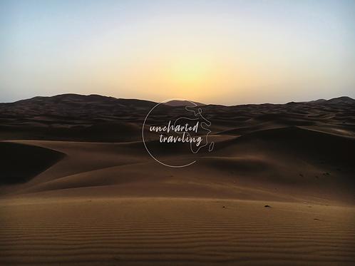Sunrise Over the Sahara - Sahara Desert, Morocco