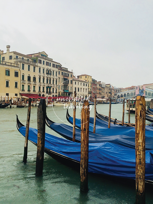 Gondolas Under Cover - Venice, Italy