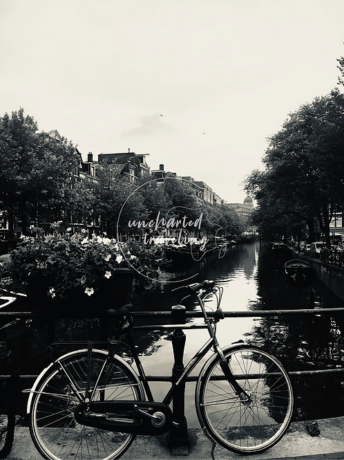 Bicycle on Canal - Amsterdam, Holland
