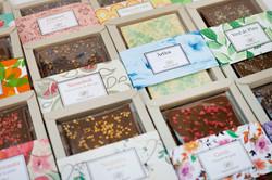 Col·lecció de xocolates de gustos i