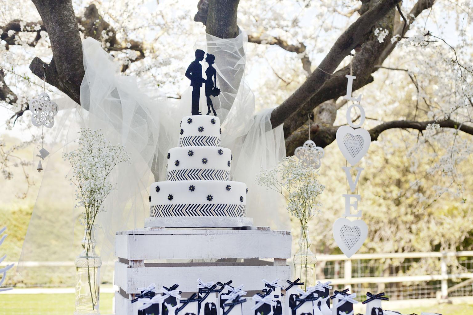 Pastís fondant de boda