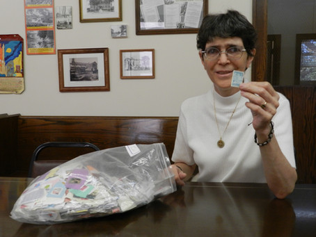 Sister Sue Collects Stamps for Charity
