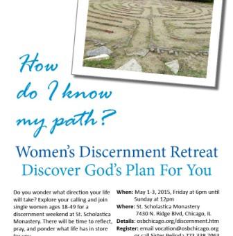 Women's Discernment Retreat