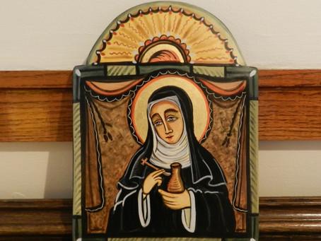 St. Walburga Retablo Gifted to St. Scholastica Monastery